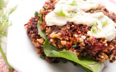 Beetroot and Millet Burgers