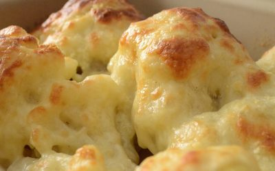 Baked Cauliflower with 3 cheeses